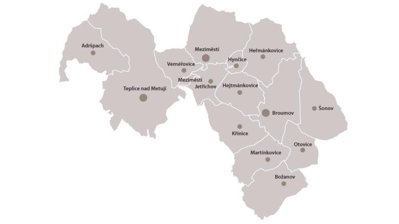Obce v MAS Broumovsko